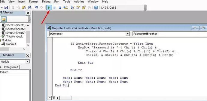 Blattschutz Excel VBA Code